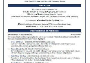 Nursing Student Resume Template Word Nursing Student Resume Sample Monster Com