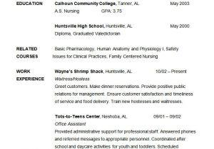 Nursing Student Resume with No Experience Pdf 24 Student Resume Templates Pdf Doc Free Premium