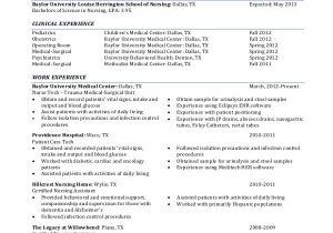 Nursing Student Resume with No Experience Pdf Sample Nursing Student Resume 8 Examples In Word Pdf