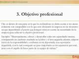 Objetivo Profesional Resume Ejemplos De Curriculum Vitae Con Objetivo Personal