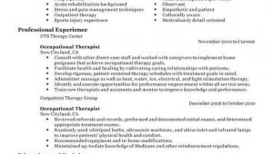 Occupational therapy Student Resume Best Occupational therapist Resume Example Livecareer