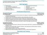 Occupational therapy Student Resume Example Best Occupational therapist Resume Example Livecareer