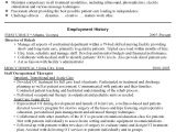 Occupational therapy Student Resume Example Occupational therapist Director Resume Sharon R Pellow