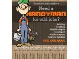 Odd Jobs Flyer Templates Handyman Carpenter Plumberpainter Odd Jobs Full Color