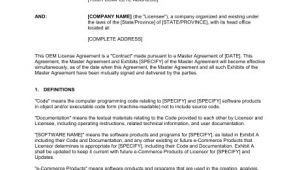Oem Contract Template Oem Reciprocal License Agreement Template Sample form