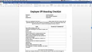 Offboarding Email Template Employee Off Boarding Checklist Template Youtube