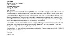 Office associate Cover Letter Office assistant Cover Letter Example Example Cover Letter