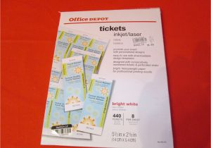 Office Depot Flyer Templates Office Depot Laser Inkjet Tickets Pack Of 440 Tickets