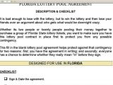 Office Lottery Pool Contract Template Office Lottery Pool Contract Template Sampletemplatess