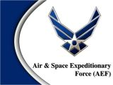 Official Air force Powerpoint Template Ppt Air Space Expeditionary force Aef Powerpoint