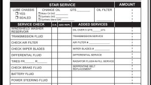 Oil Change Receipt Template Multipart Oil Change forms