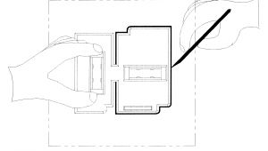 Old Work Box Template Patent Us6434848 Template for Scribbing Electrical Box