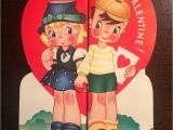 Oldest Valentine Card British Museum Boy and Girl I Really Like to Hold Your Hand Unused