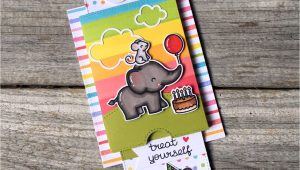 On the Border Gift Card Double Slider Surprise with Images Lawn Fawn Lawn Fawn