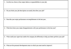 One On One Performance Review Template 8 Performance Review Samples Sample Templates