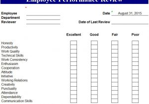 One On One Performance Review Template Employee Performance Review Template Cyberuse