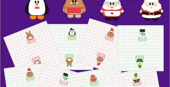 Online Advent Calendar Template Free Printable Advent Calendar Christmas Countdown