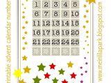 Online Advent Calendar Template Free Printable Advent Calendar Numbers Ausdruckbarer