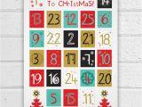 Online Advent Calendar Template Printable Advent Calendar Holiday Diy Christmas Countdown