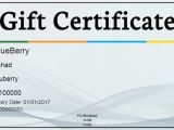 Online Gift Certificate Template Gift Certificate Template 34 Free Word Outlook Pdf