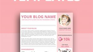 Online Media Kit Template How to Create A Kick ass Media Kit Elley Mae