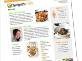 Online Media Kit Template Media Kit Template Free Food Bloggers Central