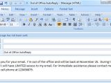 Ooo Email Template Set Out Of Office Auto Reply In Outlook 2003 2007 2010