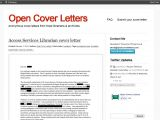 Open Cover Letter for Employment Resume Hiring Librarians