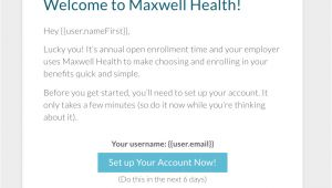 Open Enrollment Email Template Set Up Kick Off Open Enrollment Support