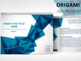 Openoffice Impress Templates Free Download origami Free Template for Powerpoint and Impress