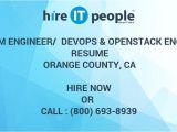 Openstack Engineer Resume System Engineer Devops Openstack Engineer Resume orange