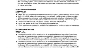 Operation Engineer Resume Operations Engineer Resume Samples Velvet Jobs