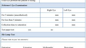 Ophthalmology Exam Template Eye Examination form Sample forms