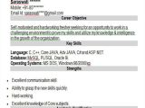 Oracle Apps Fresher Resume format 43 Professional Fresher Resumes