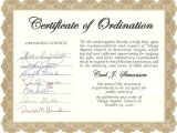 Ordination Certificate Templates Carl Simonsen 39 S Pastoral Support Ministry