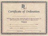 Ordination Certificate Templates Certificate Of ordination for Deacon Certificate