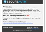 Otp Email Template System Email Template Secureauth Idp 7 X Global Site