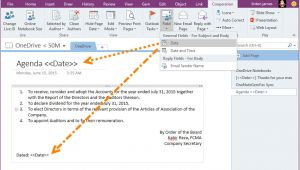 Outlook Create Email Template with Fields Use Onenote Page as Template to Create Outlook Email