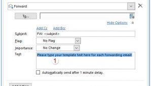 Outlook Quick Step Email Template How to forward Emails with Template In Outlook