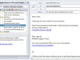 Outlook Reply with Template Template Phrases for Microsoft Outlook United Addins