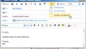 Outlook Web App Email Template Information Rights Management In Outlook Web App Exchange