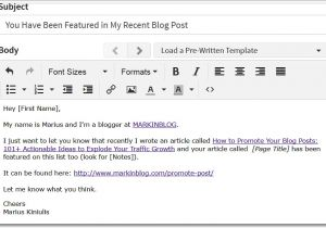 Outreach Email Template top Blogger Outreach Strategies 9 Hacks I Use to Blast My