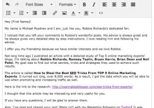 Outreach Email Template What the Heck is Blogger Outreach 1 to Win Friends and Seo