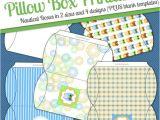Owl Pillow Box Template Instant Download Owl Diy Printable Pillow Boxes Digital Jpeg