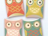 Owl Pillow Box Template Owl Pillow Gift Boxes Pdf Template by Happythought Catch