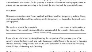 Owner Financed Home Contract Template Mortgage Contract Templates 6 Free Pdf format Download
