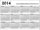 Pages Calendar Template 2014 7 Best Images Of Year Calendar 2014 Printable One Page
