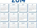 Pages Calendar Template 2014 Calendar 2014 Printable One Page Calendar Template 2018