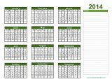 Pages Calendar Template 2014 Printable 2014 Calendar One Page Printable Calendar 2014