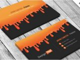 Painter Business Card Template Free Free Painting Business Card Psd Template Designyep
